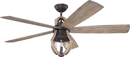 Craftmade WIN56ABZWP5 Ceiling Fan with Blades Included, 56