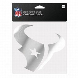 WinCraft NFL Houston Texans Chrome Perfect Cut Decal, 6 x 6, Black