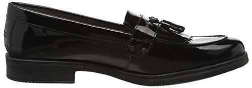 Geox 66C9999 J Agata A - Mocasines de cuero para mujer Negro (Black C9999)