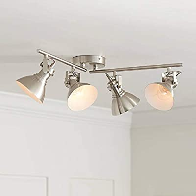 Otis 4-Light Bushed Nickel Metal Track Fixture - Pro Track