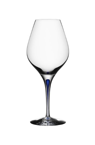 Orrefors Intermezzo Blue 20 Ounce Aroma - White Orrefors Glass Wine Glass