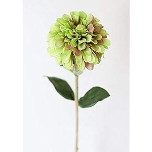 """Artificial Zinnia Flower in Green - 29"""" Tall - Set of 2 50"""