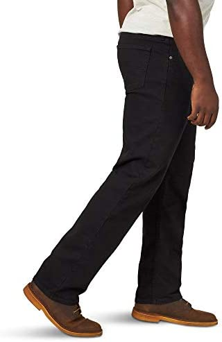 31uRmoQJ3QL. AC Wrangler Authentics Men's Classic Relaxed Fit Flex Jean    Wrangler Authentics Men's Classic Relaxed Fit Jean. This jean is constructed with durable materials built for long-lasting comfort. Made with a relaxed fit, this jean sits at the natural waist and features a regular seat and thigh.