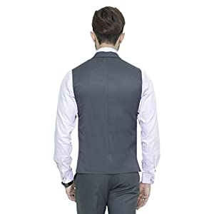 MANQ Men's Single Breast Three Button Slim Fit Formal/Party Waist Coat – 11 Colors