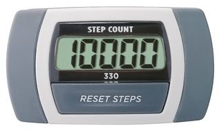 (Sportline Walking Advantage 330 Step Count Pedometer With Large Electronic Display and Waist Clip)