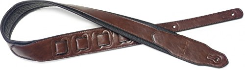 Fender Padded Leather Strap (Stagg SPFL 40 BRW Padded Leather Style Guitar Strap, Brown)