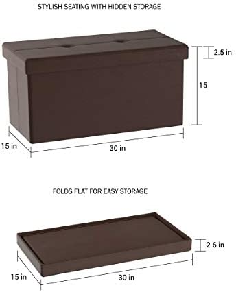 home, kitchen, furniture, accent furniture,  ottomans 5 discount Lavish Home Large Foldable Storage Bench Ottoman – Tufted deals