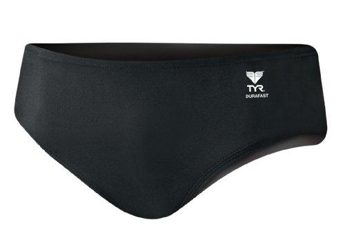 - TYR Men's Durafast Elite Solid Racer Swim Suit (Black, 32)