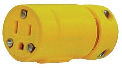Super-Safeway Rubber Connector, 5-15, 2-Pole/3-Wire Face View, 125 V/15 A (13 Pack)