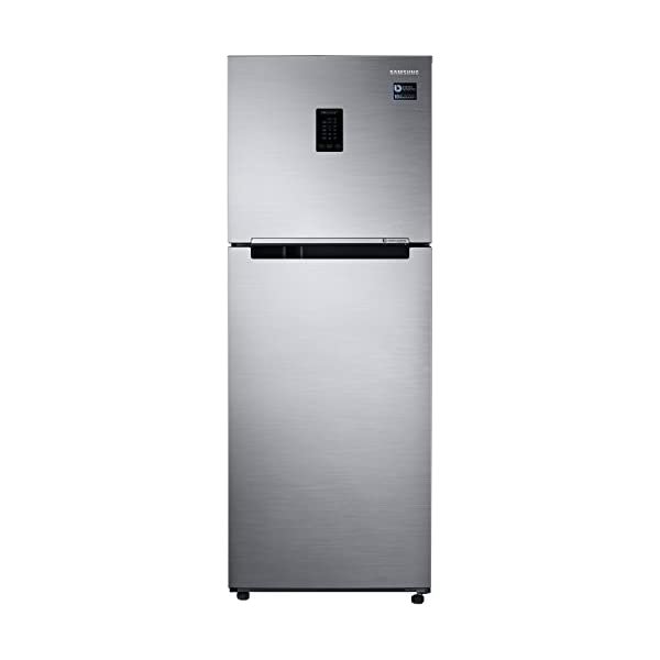 Samsung 324 L 2 Star Inverter Frost Free Double Door Refrigerator(RT34M5538S8/HL, Elegant Inox, Convertible) 2021 August As per BEE guidelines, energy rating will see a 1 point drop in all 2020 models. Hence, a 2020 2Star is equivalent to 2019 3 Star model. Frost Free, Double Door: Auto defrost to stop ice-build up. Hot Stamping :Yes Capacity 324 L: Suitable for families with 3-4 members
