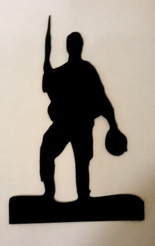 5 x Army Soldier Silhouette Die Cuts Shapes Black Card RJK Crafts