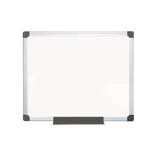 Top - Value Melamine Dry Erase Board, 24 x 36, White, Aluminum Frame free shipping
