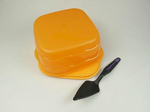 TUPPERWARE Junge Welle Kuchenschatz orange Kuchen Behälter + Tortenheber