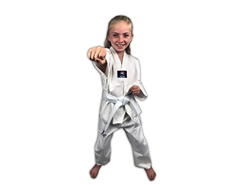 Zephyr Tae Kwon Do Gi Student Uniform with Belt - White - 1
