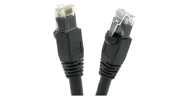 10 Gigabit//Sec High Speed LAN Internet//Patch Cable 10-Pack - 1.5 FT GOWOS Cat6 Ethernet Cable 24AWG Network Cable with Gold Plated RJ45 Snagless//Molded//Booted Connector 550MHz Red