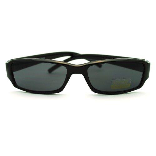 Black Small Rectangular Sunglasses Classic Narrow Lens Fashion Frame