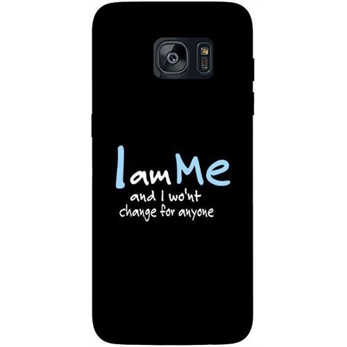 Casotec Quotes Design Hard Back Case Cover for Samsung Galaxy S7 Edge