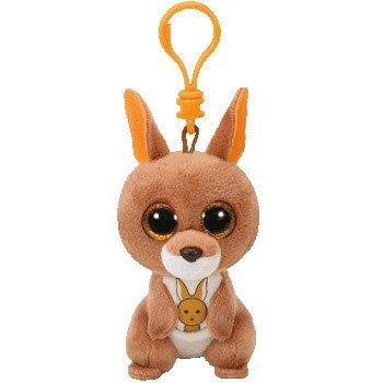 Ty KIPPER - Brown Kangaroo Clip Key Chain Plush -