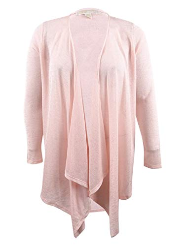 Michael Kors Cashmere Shrug - Michael Michael Kors Womens Asymmetric Sheer Cardigan Sweater Orange L