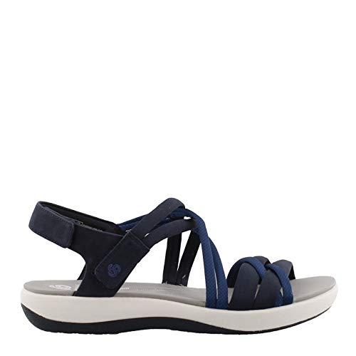 (CLARKS Women's, Brizo Waves Sandals Navy 6 M)