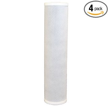 KX MATRIKX Pb1 Comparable 10-Inch Length Extruded Carbon Block Filter Cartridge, 4-Stuff by CFS