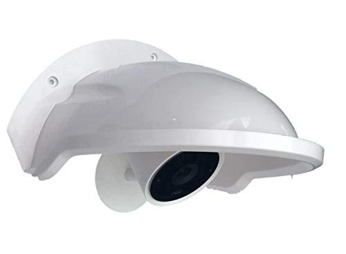 Universal Sun Rain Shade Camera Cover Shield for Nest/Ring/Arlo/Dome/Bullet Outdoor Camera - White ()