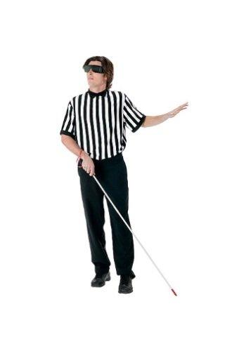 Blind Referee Costume (FunWorld Men's  Blind Referee Kit, Black, One Size)
