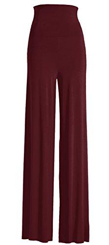 VIV Collection Women's Solid Wide Leg Palazzo Boho Gaucho Pants (X-Large, ()