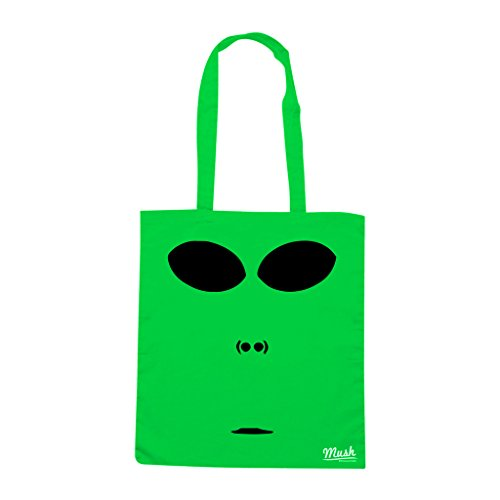 Borsa ALIEN FACE - Verde prato - FILM by Mush Dress Your Style
