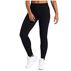 Goosuny High Waisted Leggings for Women Stretch Tummy Control Workout Running Yoga Pants Solid Stretch Tight Capri Soft…