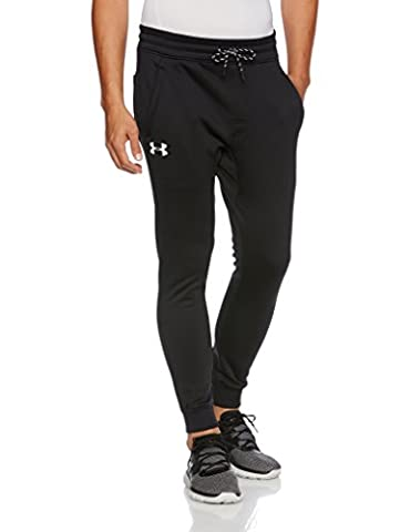 Under Armour Men's Storm Fleece Joggers Pants, Medium, Black/White