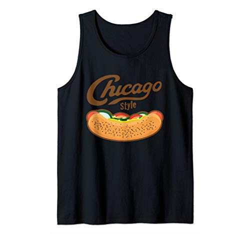 Chicago Style Hot Dog Foodie Tank Top (Hot Dog Stand In Chicago Tv Show)