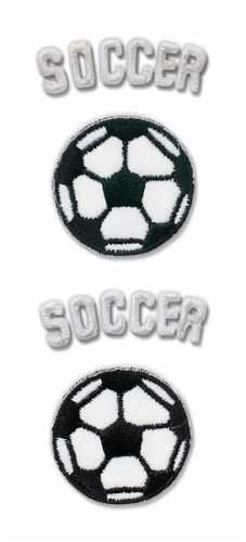 Pep Rally Embroidered Emblem Stickers-Soccer (Rally Pep Football)
