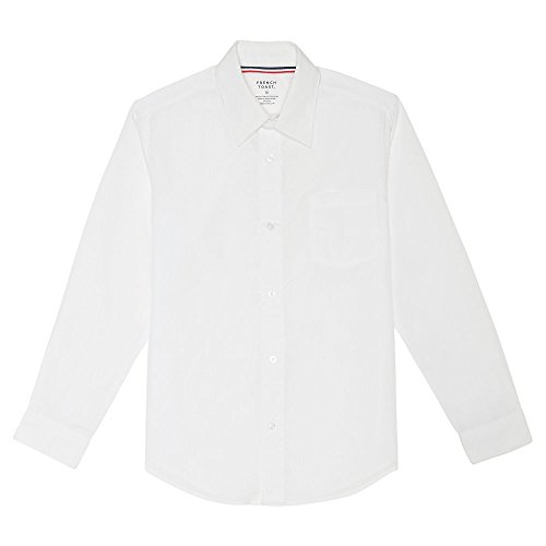 French Toast Little Boys' Long Sleeve Poplin Dress Shirt, White, 5 ()