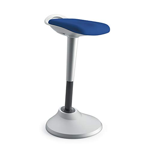 HON Perch Stool, Sit to Stand Backless Stool for Office Desk, Blue (HVLPERCH) ()