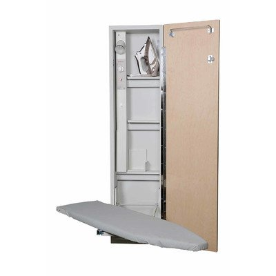 Premium Swivel Ironing Center Color (Door Style): Raised Maple Panel, Door Hinge: Right by Iron-A-Way LLC