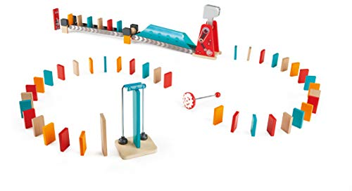 (Hape Mighty Hammer Domino   Double -Sided Wooden Ball Domino Set for Kids Aged 4 and Up)