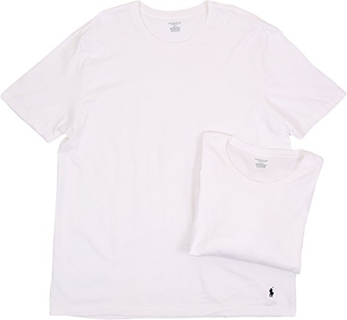 (Polo Ralph Lauren Men's 2-Pack Big Crew T-Shirt White)