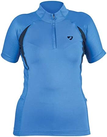 Shires Aubrion Highgate Womens Short Sleeve Baselayer Blue