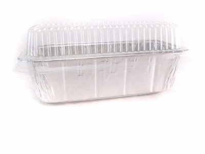 Disposable Aluminum 2 Lb. Loaf Pan with Clear Plastic Snap on Lid #5100P (100) by Handi-Foil