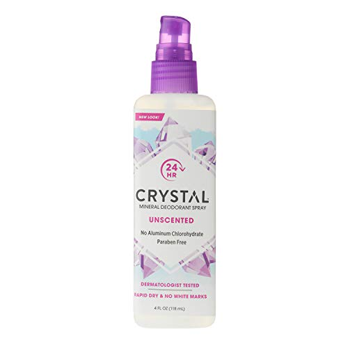 Mineral Deodorant Body Spray - Crystal Mineral Deodorant Spray, Unscented, 4.0 oz (Pack of 6)