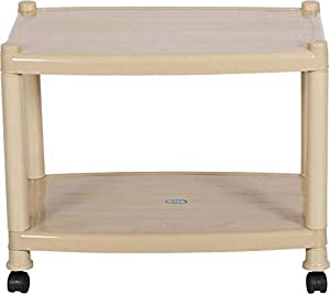 Patelraj Collapsible Plastic Coffee Table/Tea Table (Finish Color - Beige) Folding Tepoy Table