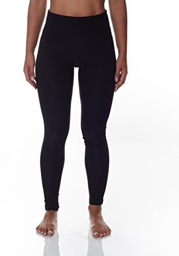 NYL Women's Workout Leggings With Tummy Control and Wide Waistband