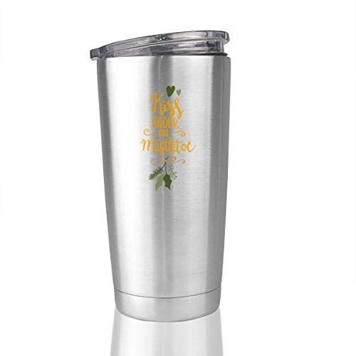 Kiss Me Under The Mistletoe Stainless Steel Vacuum Insulated Tumbler 20 Oz Travel Mugs Cup Hot Cold]()