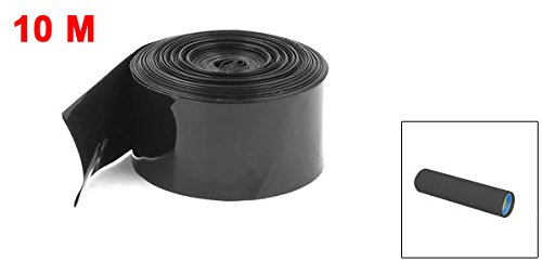 Uxcell 29.5 mm//18.5 mm PVC HEAT Shrink Tubing Black 10M for 18650 18500 Battery a15012900ux0441