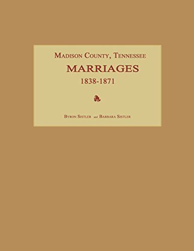 Madison County, Tennessee, Marriages 1838-1871