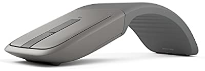 Microsoft Arc Touch Bluetooth Mouse for PC, Microsoft Surface, and Windows Tablets, Grey, Blue Box
