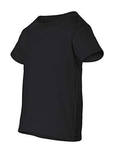 (Rabbit Skins baby-boys 5.5 oz. Short-Sleeve Jersey T-Shirt(3401)-BLACK-6MOS)