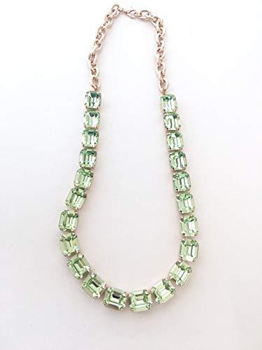 Jewels Octagon (12x10mm Swarovski Crystal Octagon Rhinestone Necklace)