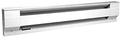 Cadet Manufacturing 05534 120-Volt White Baseboard Hardwire Electric Zone Heater, 1000-Watt, 8.33-Amp, 48-Inch